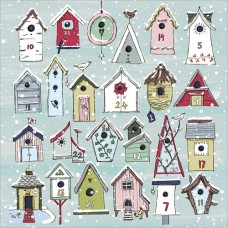 'Bird Houses' - Advent Calendar Card (sorry now sold out until next year)