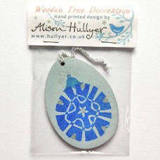 Wooden Decoration - Blue Bauble (sorry sold out)