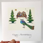Card - Happy Anniversary (Peacock) - sorry sold out