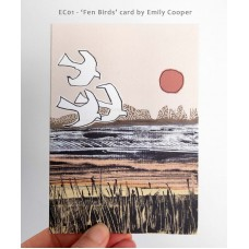 *NEW* 'Fen Birds' greetings card by Emily Cooper