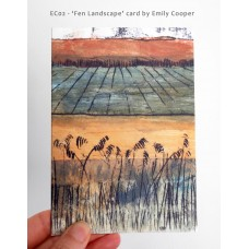 *NEW* 'Fen Landscape' greetings card by Emily Cooper