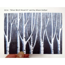 'Silver Birch Wood III' greetings card