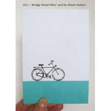 'Bridge Street Bike' greetings card