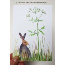 'Meadow Hare' greetings card