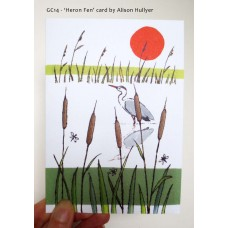 'Heron Fen' greetings card
