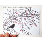 'Winter Berries' greetings card