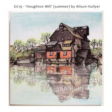'Houghton Mill' greetings card (summer)