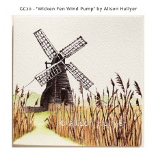 'Wicken Fen Wind Pump' greetings card