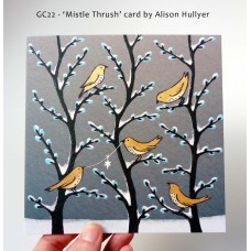 'Mistle Thrush' greetings card