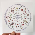 Card - Happy Birthday (Music) - sorry sold out