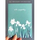 'Iris - With Sympathy' greetings card