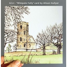 'Wimpole Folly' greetings card