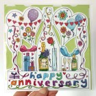 Die-cut Happy Anniversary