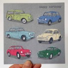 Card - Happy Birthday (Classic cars)