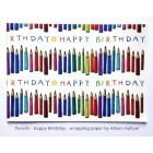 Pencils (Happy Birthday) - wrapping paper