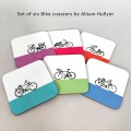Set of 6 Bike Coasters