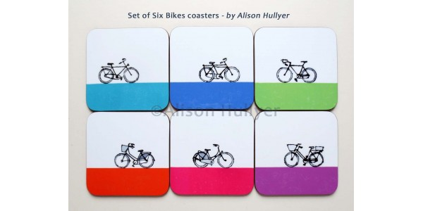 Collection of Bikes coasters