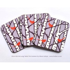 Set of 4 Silver Birch Coasters *SALE* (sold out)