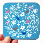 Coaster - Bird Circle (blue) *SALE*