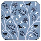 Coaster - Birds and Leaves (grey) SOLD OUT