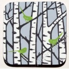 Coaster - Silver Birch Trees (green)