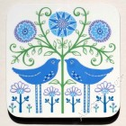 Coaster - Two Birds (blue & green) - sorry sold out, message to order