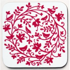 Coaster - Bird Circle 3 (white background) *SALE*