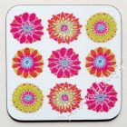 Coaster - Nine Pink Flowers