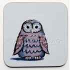 Coaster - Owl (brown)