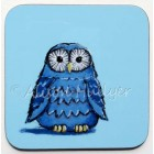 Coaster - Owl (blue) - sorry, sold out, more on order