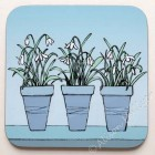 Coaster -  Spring Flower Pots - Snowdrops (sold out)