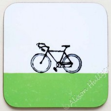 Coaster - Bike (lime green)