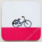 95. Coaster - Bike (bright pink)