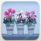 Coaster -  Spring Flower Pots - Cyclamen *SALE*