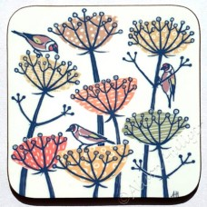 Coaster - Goldfinches and Seed Heads (golds)