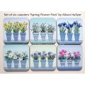Coaster -  Spring Flower Pots - Iris - sorry sold out, message to order
