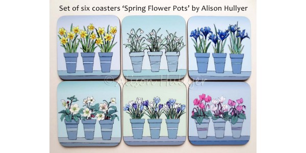 Spring Flower Pot coasters