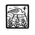 Relief Print - Curlew