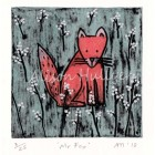 Collograph - Mr Fox - message to order