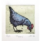 Collograph Print - Poppy Chicken