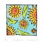 Drypoint - Sunflowers