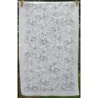 Bikes Tea Towel - black & white
