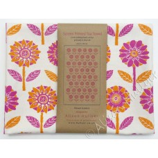 Flower Garden (orange & cerise) on cream