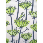 Goldfinches Tea Towel - charcoal & lime