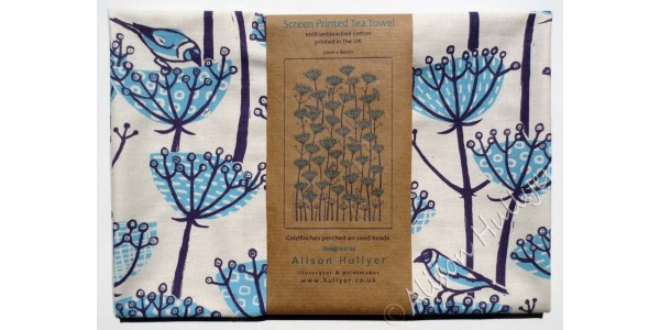 Goldfinch tea towel