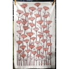 Goldfinches Tea Towel - terrracotta and dark brown (sorry sold out)