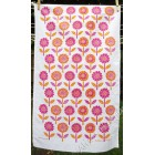 Flower Garden (orange & cerise) on white *SALE*