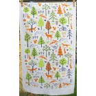 Woodland Tea Towel (orange & lime) on white - sorry sold out